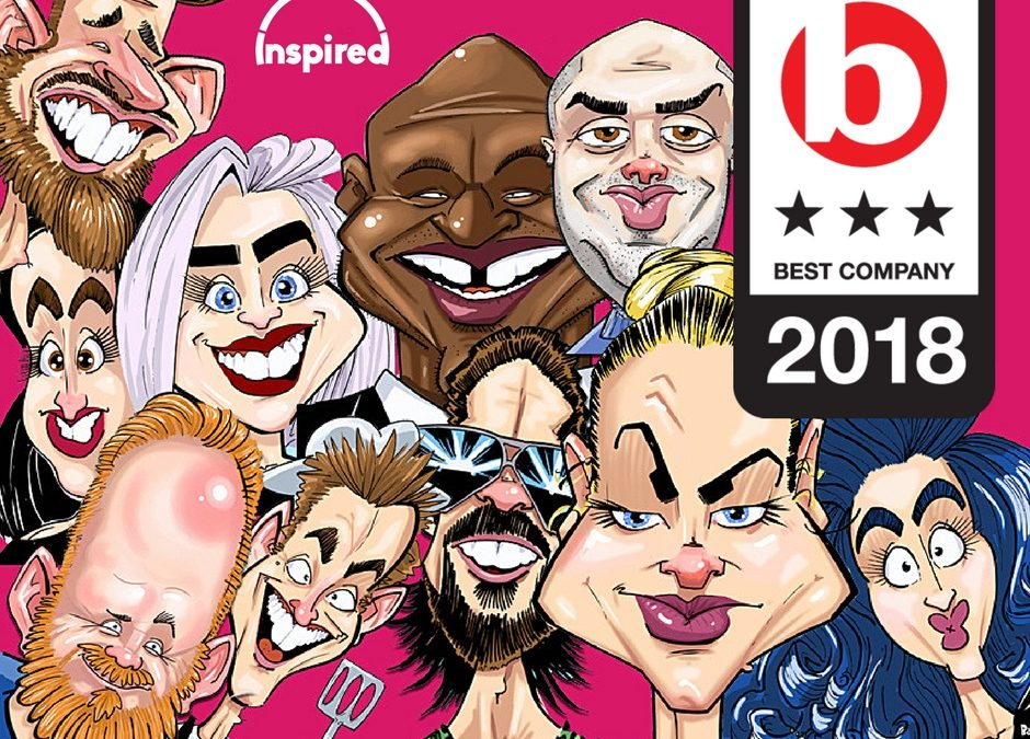 Inspired Claim a Sunday Times Top 100 Best Companies Spot for 2018