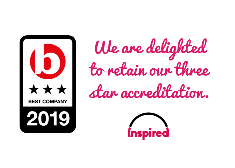 Inspired Outsourcing retains three star accreditation